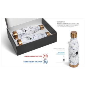 Marble Water Bottle Gift Set - Bronze Only